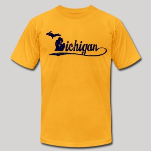 Script Michigan - Men's T-Shirt by American Apparel