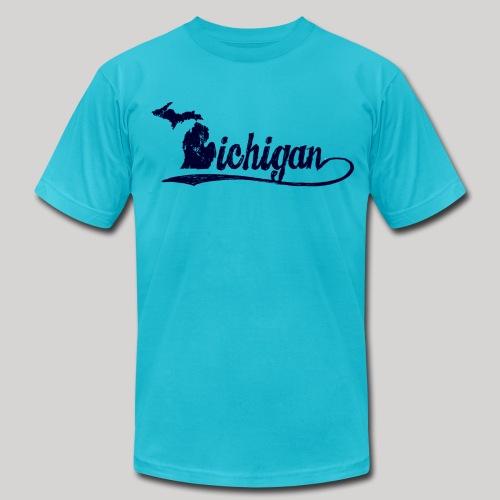 Script Michigan - Men's Fine Jersey T-Shirt