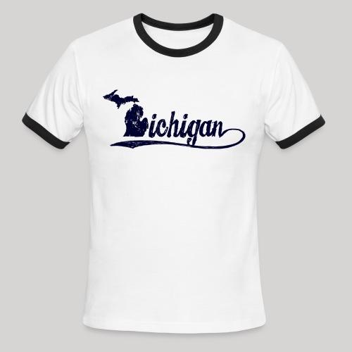 Script Michigan - Men's Ringer T-Shirt