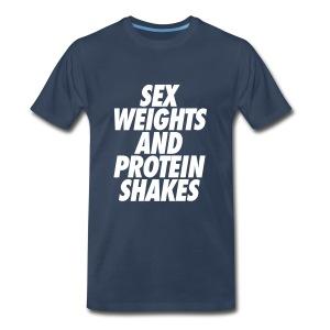 Sex Weights Tee (Men's) - Men's Premium T-Shirt