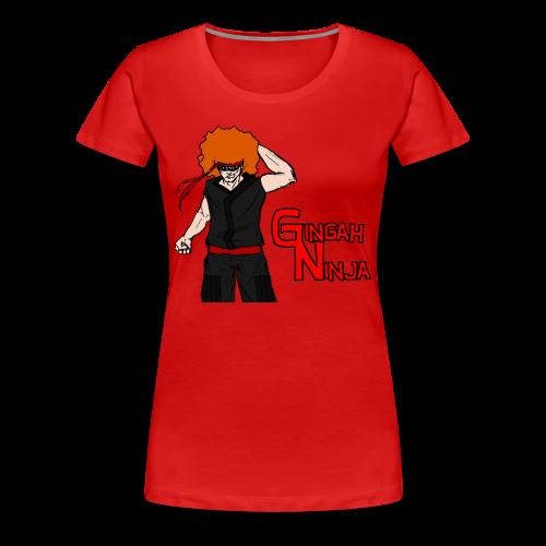 Women's Gingah Ninja T-Shirt (More Sizes) - Women's Premium T-Shirt