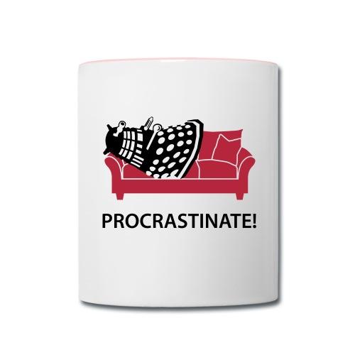 Dalek Procrastinate - Contrast Coffee Mug