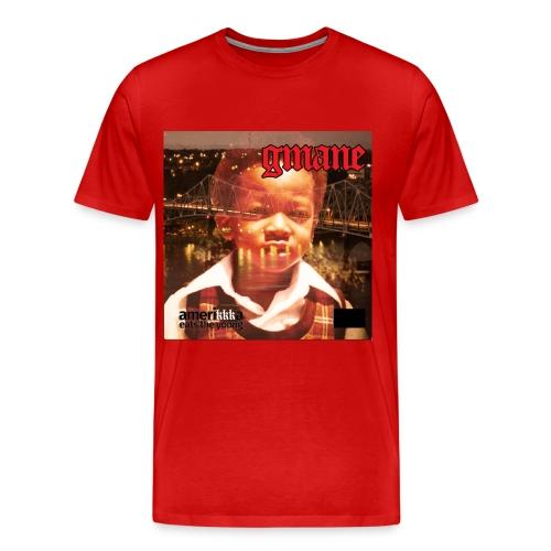 GMANE AmeriKKKa Eats the Young tee red - Men's Premium T-Shirt