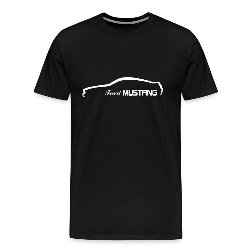 Ford Mustang Racing Stripe Design Blue Men S Size Tee: Ford Mustang Silhouette T-Shirt