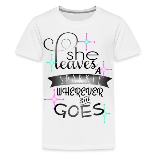 She leaves a Sparkle - Kids' Premium T-Shirt