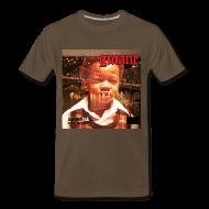 T-Shirts ~ Men's Premium T-Shirt ~ GMANE AmeriKKKa Eats The Young tee brn