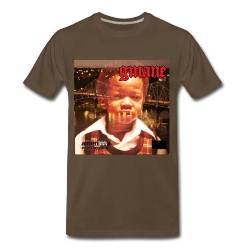 GMANE AmeriKKKa Eats The Young tee brn  - Men's Premium T-Shirt