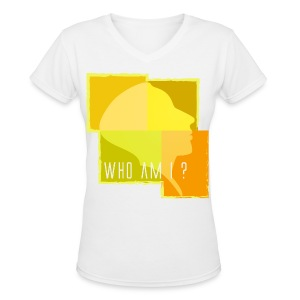 Who Am I - Yellow - Women's V-Neck T-Shirt