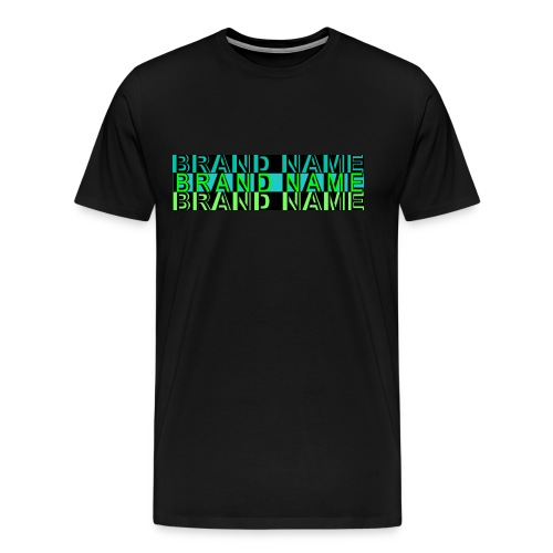 Brand Name Stacked - Men's Premium T-Shirt