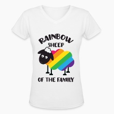Rainbow Sheep Of The Family LGBT Pride Women's T-Shirts