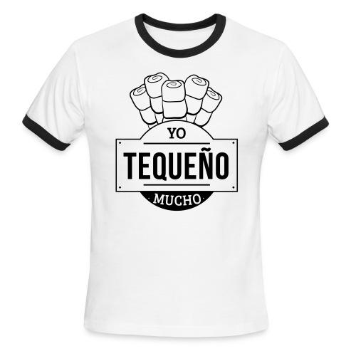 Tequeño Mucho T-Shirt - White Striped - Men's Ringer T-Shirt