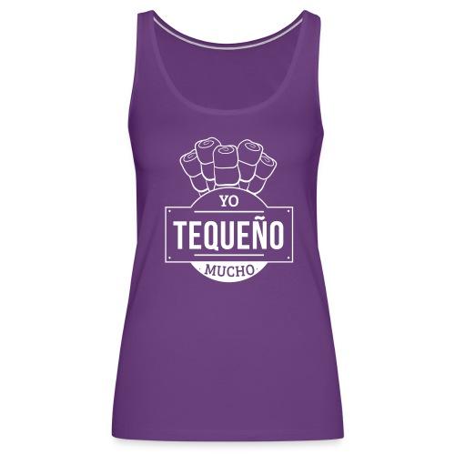 Tequeño Mucho Girl Shirt - Purple - Women's Premium Tank Top
