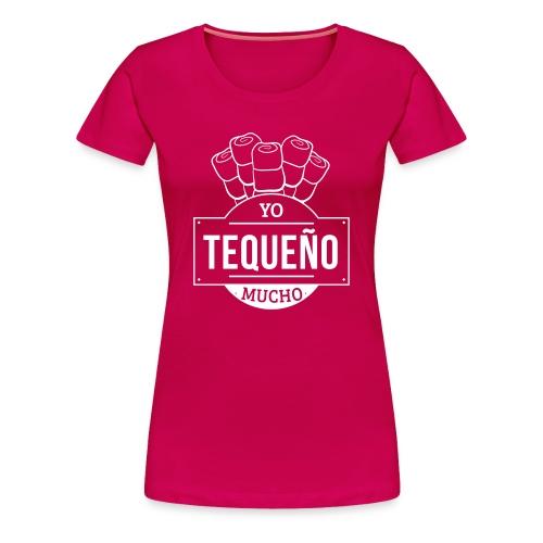 Tequeño Mucho Girl Shirt - Strong Pink - Women's Premium T-Shirt