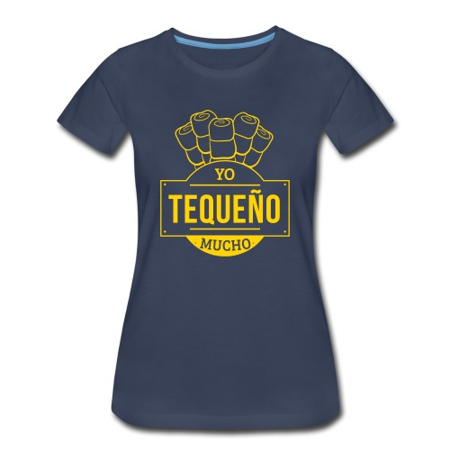 Tequeño Mucho Girl Shirt - Dark Blue / Yellow - Women's Premium T-Shirt