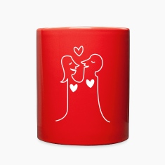 Loving Heart Couple Mugs & Drinkware