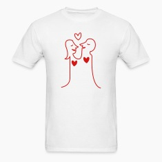 Loving Heart Couple T-Shirts
