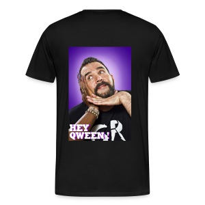 Hey Qween Logo On Front/Jonny McGovern Photo Back Tee - Men's Premium T-Shirt