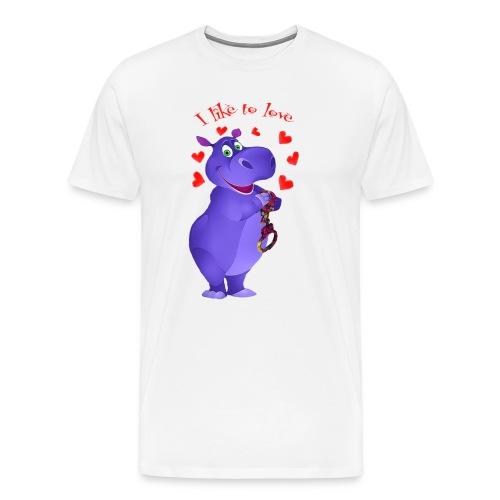 hippo - Men's Premium T-Shirt
