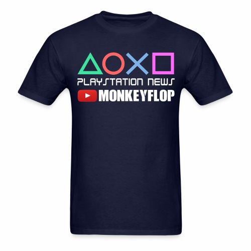 PlayStation News MonkeyFlop Navy Blue Mens - Men's T-Shirt