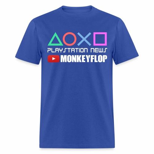 PlayStation News MonkeyFlop Blue Mens - Men's T-Shirt
