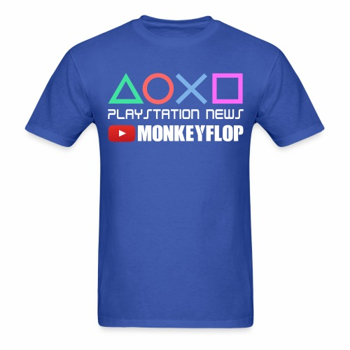 PlayStation News MonkeyFlop Blue Mens - Men's T-Shirt
