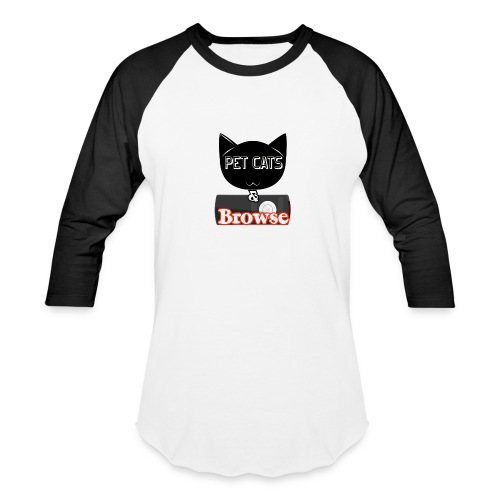 Pet Cats & Browse - Baseball T-Shirt