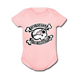 Baby Grow Pink - Short Sleeve Baby Bodysuit