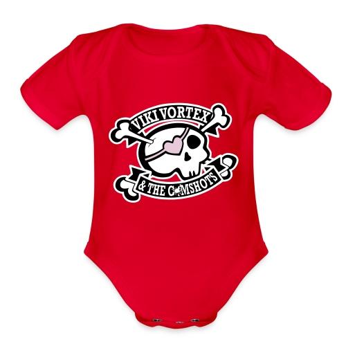 Baby Grow Pink - Organic Short Sleeve Baby Bodysuit