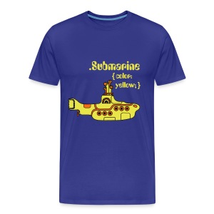 Yellow Submarine in CSS - Men's Premium T-Shirt