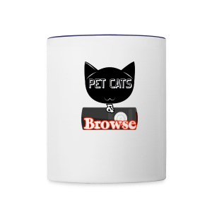 Pet Cats & Browse Mug - Contrast Coffee Mug