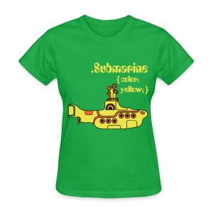 Yellow Submarine in CSS - Women's T-Shirt