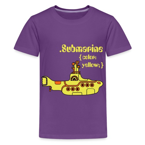 Yellow Submarine in CSS - Kids' Premium T-Shirt