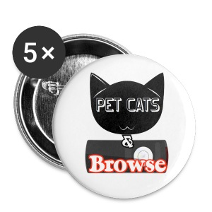 Pet Cats & Browse Badges - Small Buttons