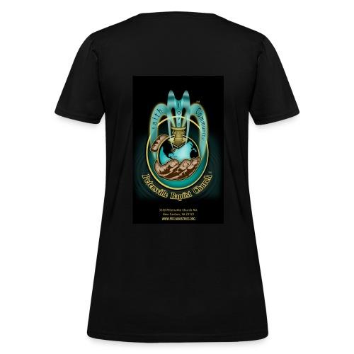 PBC Ministries in God's Hand 2 - Womens Tee (Black) - Women's T-Shirt