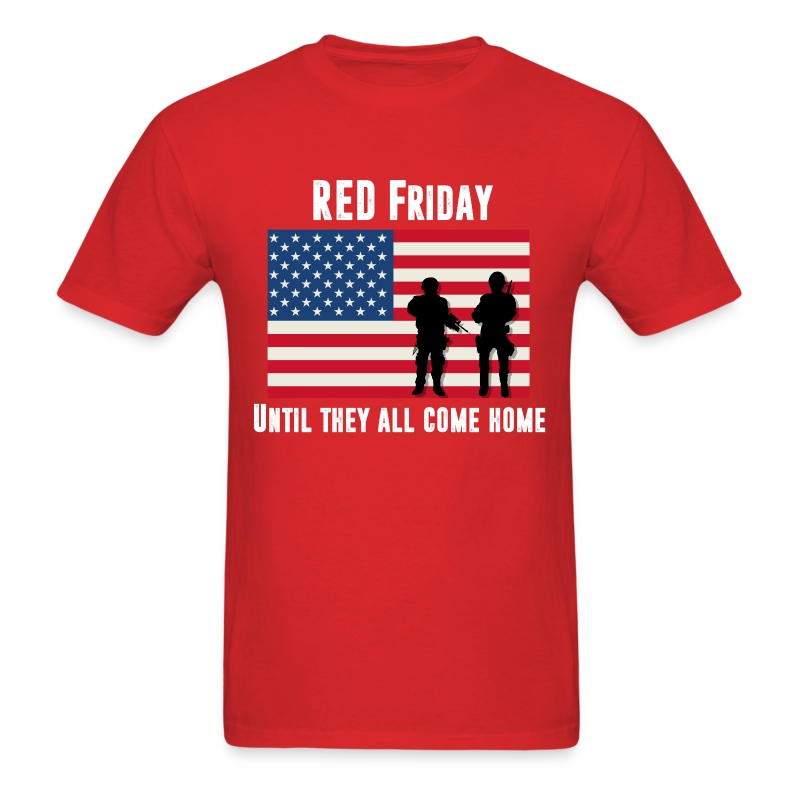 Safety Yellow Shirts >> Men's T-Shirt RED Friday T-Shirt | Spreadshirt
