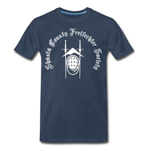 SCFS Men's T-shirt (White Logo) - Men's Premium T-Shirt