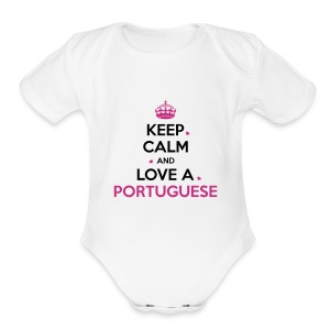 [NEW] KEEP CALM PORTUGAL - Short Sleeve Baby Bodysuit