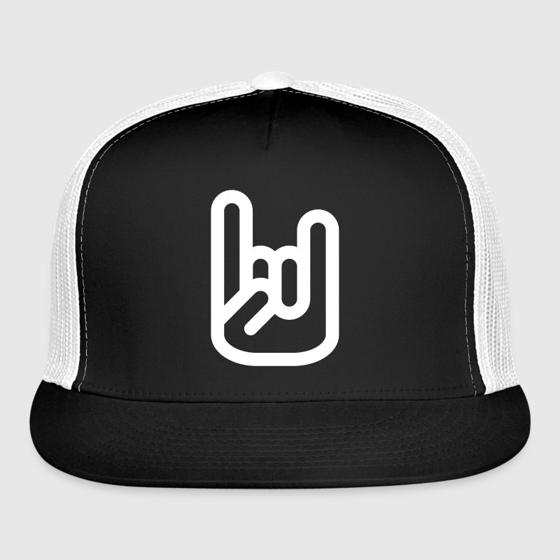 Rock Hand Sign Caps - Trucker Cap