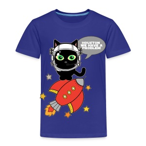 Space Cat - Houston we have a problem - Toddler Premium T-Shirt