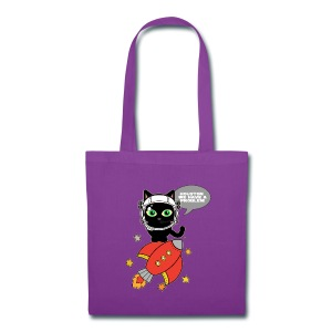 Space Cat - Houston we have a problem - Tote Bag