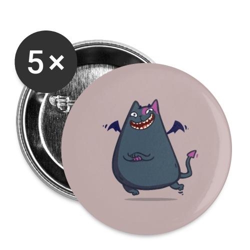 Demoncat — Friday Cat №43 - Large Buttons
