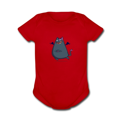 Demoncat — Friday Cat №43 - Organic Short Sleeve Baby Bodysuit