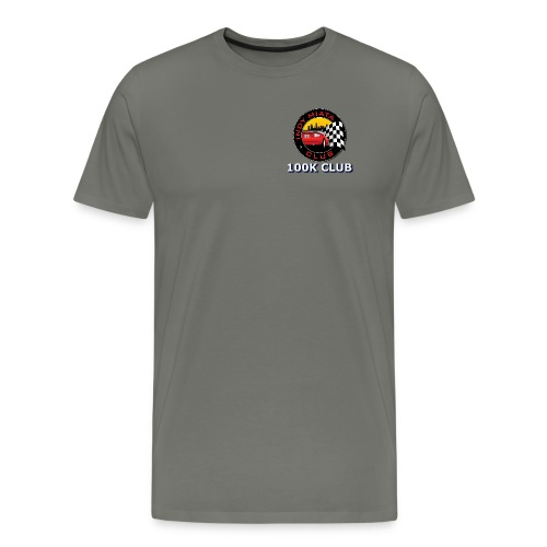 100K Premium T-Shirt with logo on front and text on back - Men's Premium T-Shirt