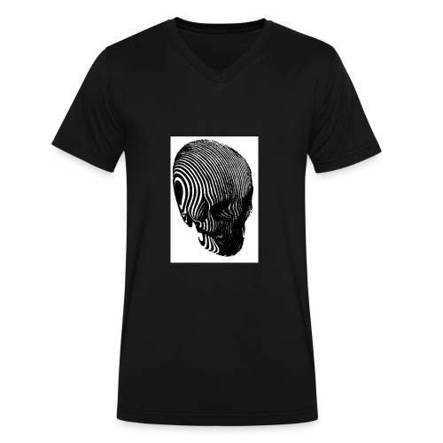 Skull Shirt - Men's V-Neck T-Shirt by Canvas