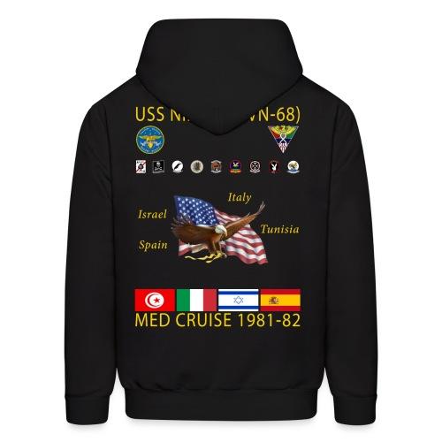 USS NIMITZ CVN-68 MED CRUISE  1981-82 CRUISE HOODIE - Men's Hoodie