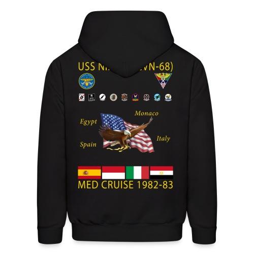 USS NIMITZ CVN-68 MED CRUISE  1982-83 CRUISE HOODIE - Men's Hoodie