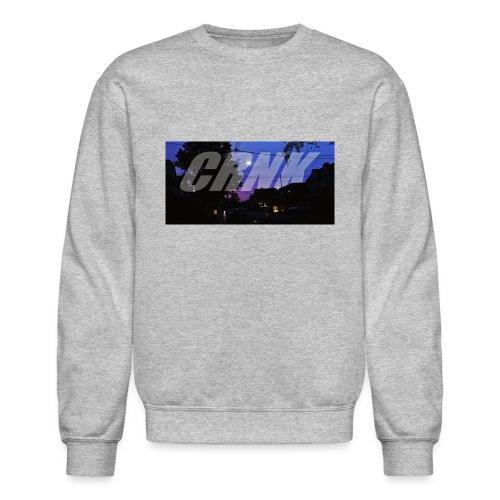 CRNK Logo T-shirt Purple Print (Gray) - Crewneck Sweatshirt