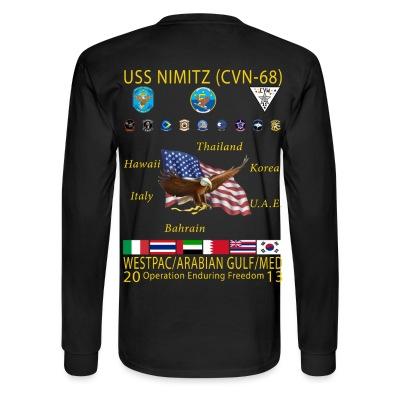 nimitz men Nimitz-klassen er betegnelsen for usas største hangarskibsklasse og efterfølgeren til kitty hawk-klassen,  men blev udskiftet med super hornets.