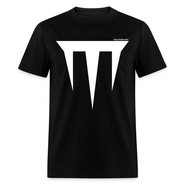 Wulfgard Inquisition Men's T-Shirt - White on Black