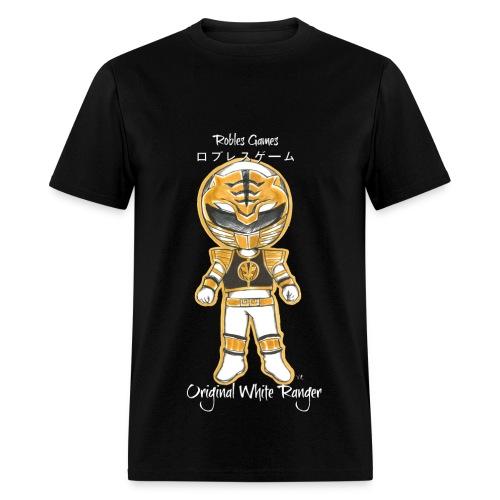 Original White Ranger Chibi (Mens) T-Shirt - Men's T-Shirt